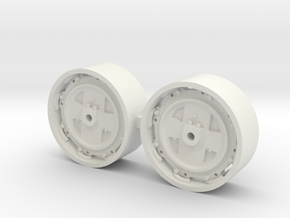 1/64 8000/9000/8600/9600 Ford Tractor wheels in White Natural Versatile Plastic