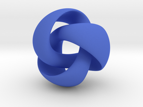 Equivoluminous Trefoil in Blue Strong & Flexible Polished
