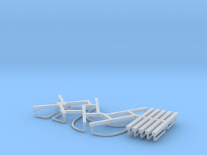 HO DRGW 01400 Caboose Railings in Smooth Fine Detail Plastic