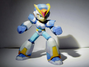 Megaman X Upgraded armor 60mm in Full Color Sandstone