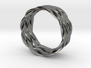 Turkshead Ring - size 9.5 in Premium Silver