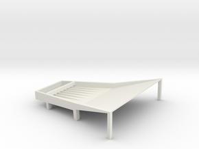 Cone Shake Tray 8t Fixed in White Natural Versatile Plastic