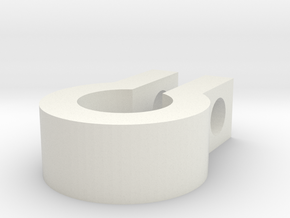 13mm pipe bracket in White Strong & Flexible