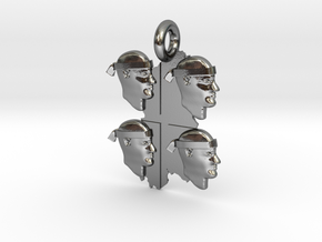 sardinian banner pendant in Polished Silver
