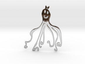 octopus pendant in Polished Silver