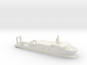 USSP Auxiliary Ship, 1/1800 in White Natural Versatile Plastic