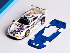 1/32 Fly Porsche 911 GT1 Chassis for slot.it pod in Blue Strong & Flexible Polished