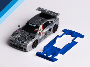 1/32 Fly Venturi 600 LM Chassis for slot.it pod in Blue Strong & Flexible Polished