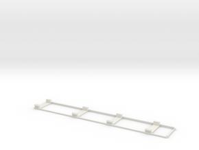 D-1 Body Support Frame in White Natural Versatile Plastic
