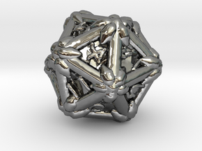 D 20 in Fine Detail Polished Silver
