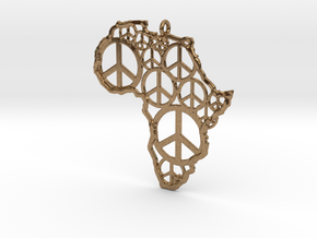 African peace in Natural Brass