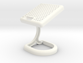 Sony Smartwatch 3 Charging Stand D Shape in White Processed Versatile Plastic