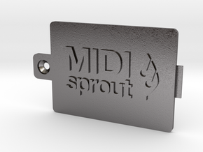 MIDI Sprout Battery Door 002a in Polished Nickel Steel