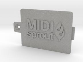 MIDI Sprout Battery Door 002a in Aluminum