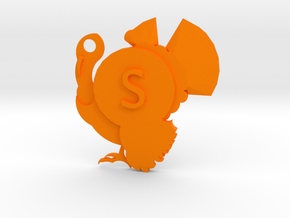 Turkey dog tag - S is for... in Orange Processed Versatile Plastic