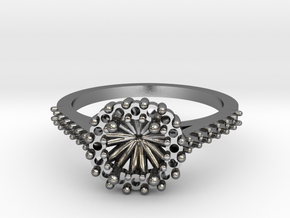 Cushion Halo Ring in Polished Silver