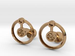 Hydrogen Cufflink in Polished Brass