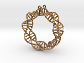 Earring DNA in Polished Brass