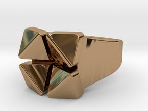 Box Flower - Precious Metals & Plastics in Polished Brass