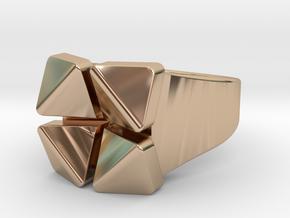 Box Flower - Precious Metals & Plastics in 14k Rose Gold Plated: 5.5 / 50.25