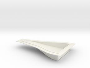 "NACA Intake Duct - 0.035"" panel, 7 x 4 x 1 Inch in White Natural Versatile Plastic"