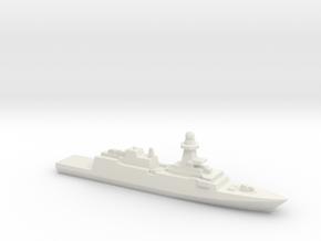 Bergamini-Class FFG (2011), 1/3000 in White Natural Versatile Plastic
