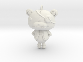 Keychain_Teddy in White Natural Versatile Plastic
