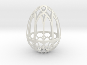 Gothic Egg Shell 2 in White Natural Versatile Plastic