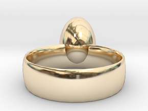 Egg ring! size 8 in 14k Gold Plated Brass