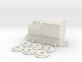 ToyTrain in White Natural Versatile Plastic