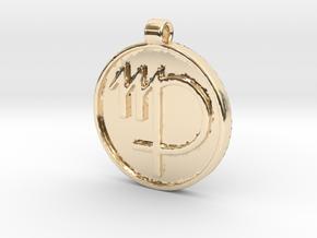 Zodiac KeyChain Medallion-VIRGO in 14k Gold Plated Brass