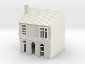 RHS-4 N Scale Rye High Street building 1:148 in White Natural Versatile Plastic