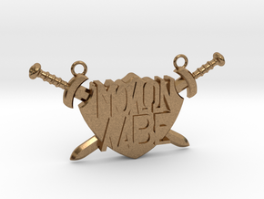 'Molon Labe' Pendant in Natural Brass