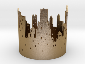 Burning Middle Ages (tea light) in Polished Gold Steel