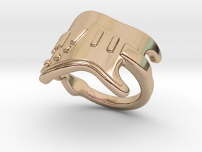 Electric Guitar Ring 23 - Italian Size 23 in 14k Rose Gold Plated Brass