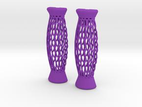 Assistive Handle for Utensils in Purple Processed Versatile Plastic