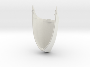 Spire Large Top Shell (Spire Whale) in White Natural Versatile Plastic