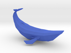 Geometric Blue Whale in Blue Processed Versatile Plastic