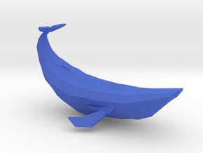Geometric Blue Whale in Blue Processed Versatile Plastic