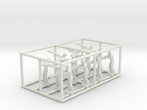 1/144 Standing Observers (Central Powers) in White Natural Versatile Plastic