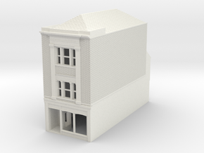 RHS-8 N Scale Rye High Street building 1:148 in White Strong & Flexible