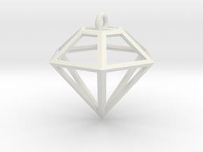 Wire Diamond in White Natural Versatile Plastic