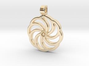 Wheel Of Eternity Pendant in 14k Gold Plated Brass