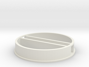 'N Scale' - 48' Diameter Bin - Foundation w/ Tunne in White Natural Versatile Plastic