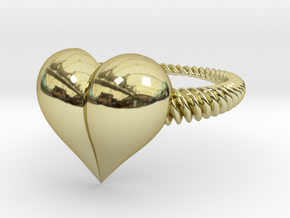 Size 6 Heart Ring in 18k Gold