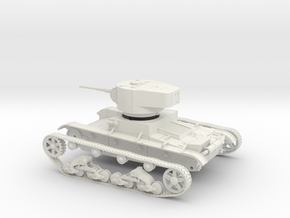 VBS Soviet light tank T26 1934 1:48 28mm wargames in White Natural Versatile Plastic