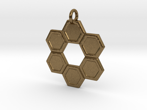 Honeycomb Ring Pendant in Natural Bronze
