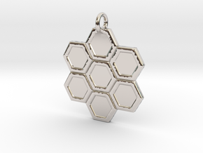 Honeycomb Pendant in Platinum