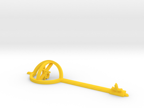 Key Of Love in Yellow Processed Versatile Plastic