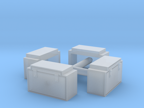 N Scale PRR 2 Latch Tool Box 4PK in Frosted Extreme Detail